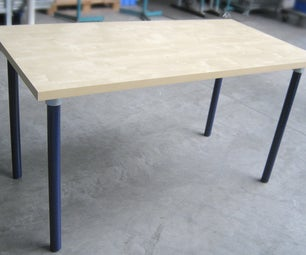 Pipe Leg DIY Table - Build From Any Wood Table Top