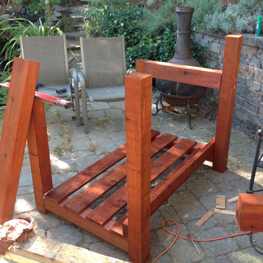 Treat the Wood and Assemble the Frame