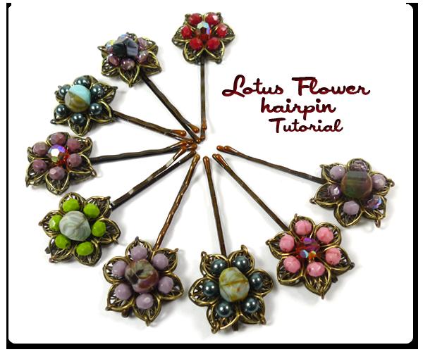 Lotus Flower Hairpins