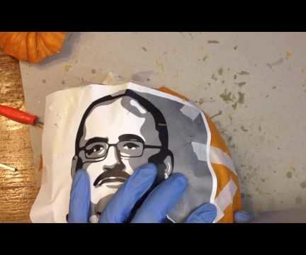 How to carve a Ken Bone Pumpkin - The Bonekin!