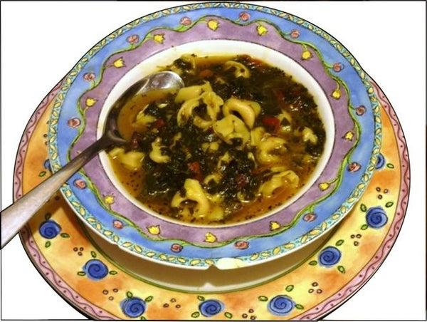 """Cheesy"" Tortellini Soup"