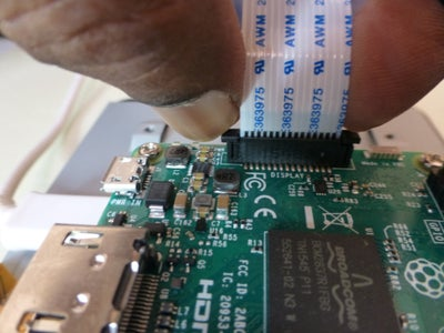 Connect the DSI Ribbon Cable to the Pi