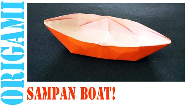How to Make an Origami Sampan Boat!