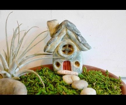 How To Sculpt A Fairy Garden House In Polymer Clay