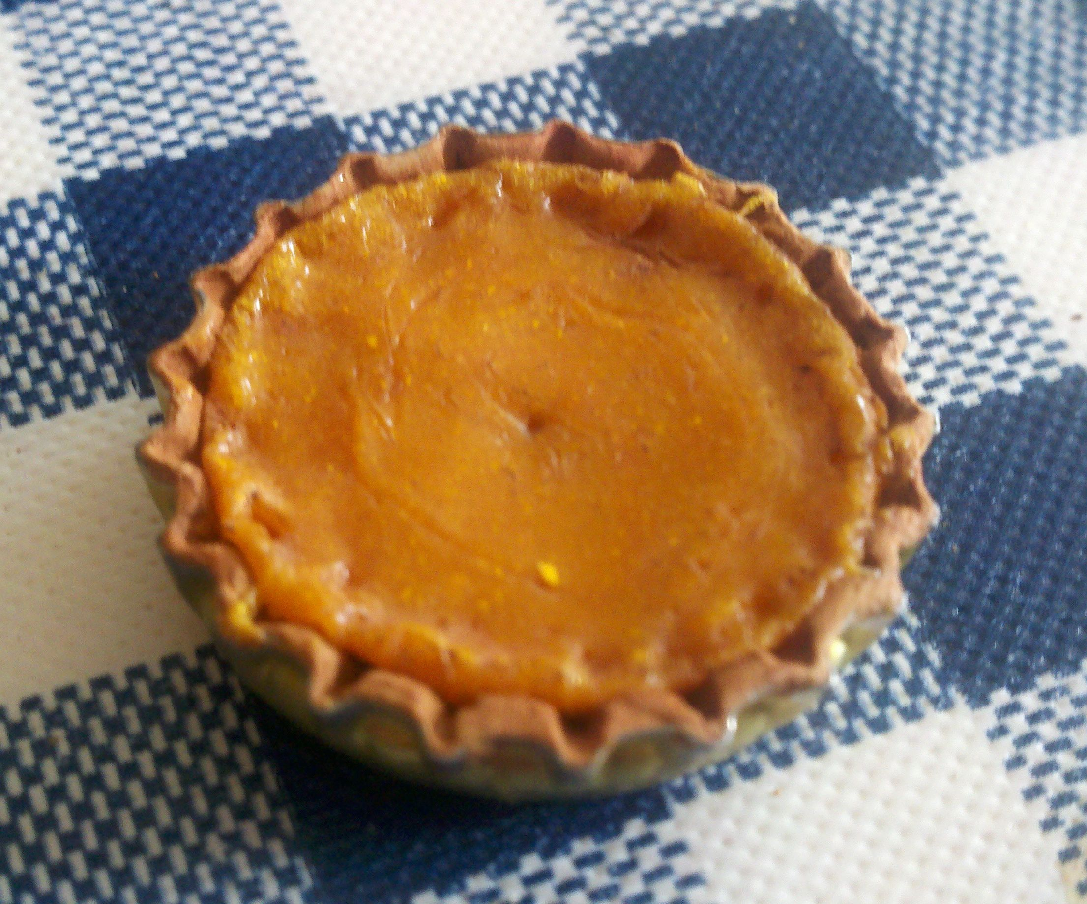 Miniature Clay Pumpkin Pie
