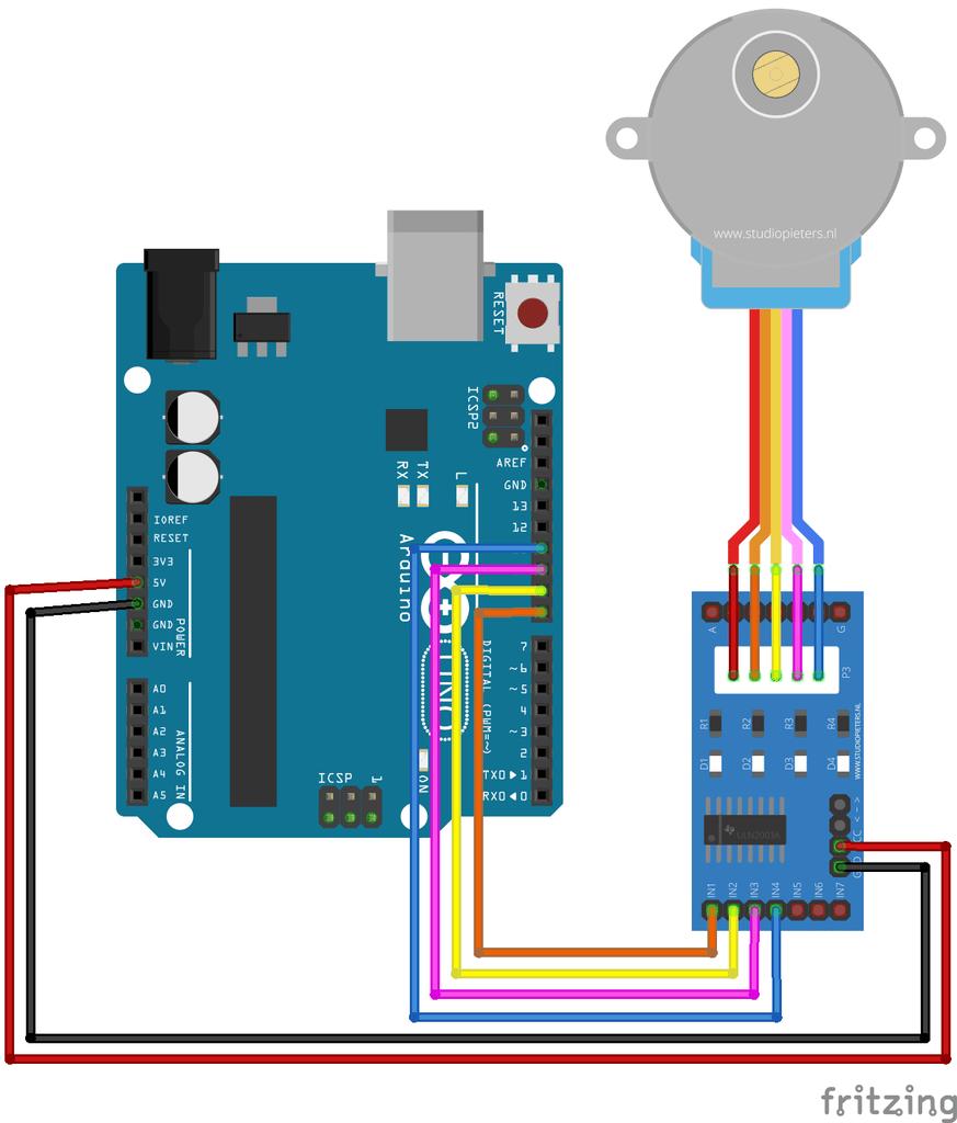Step 4: Setup Step Motor