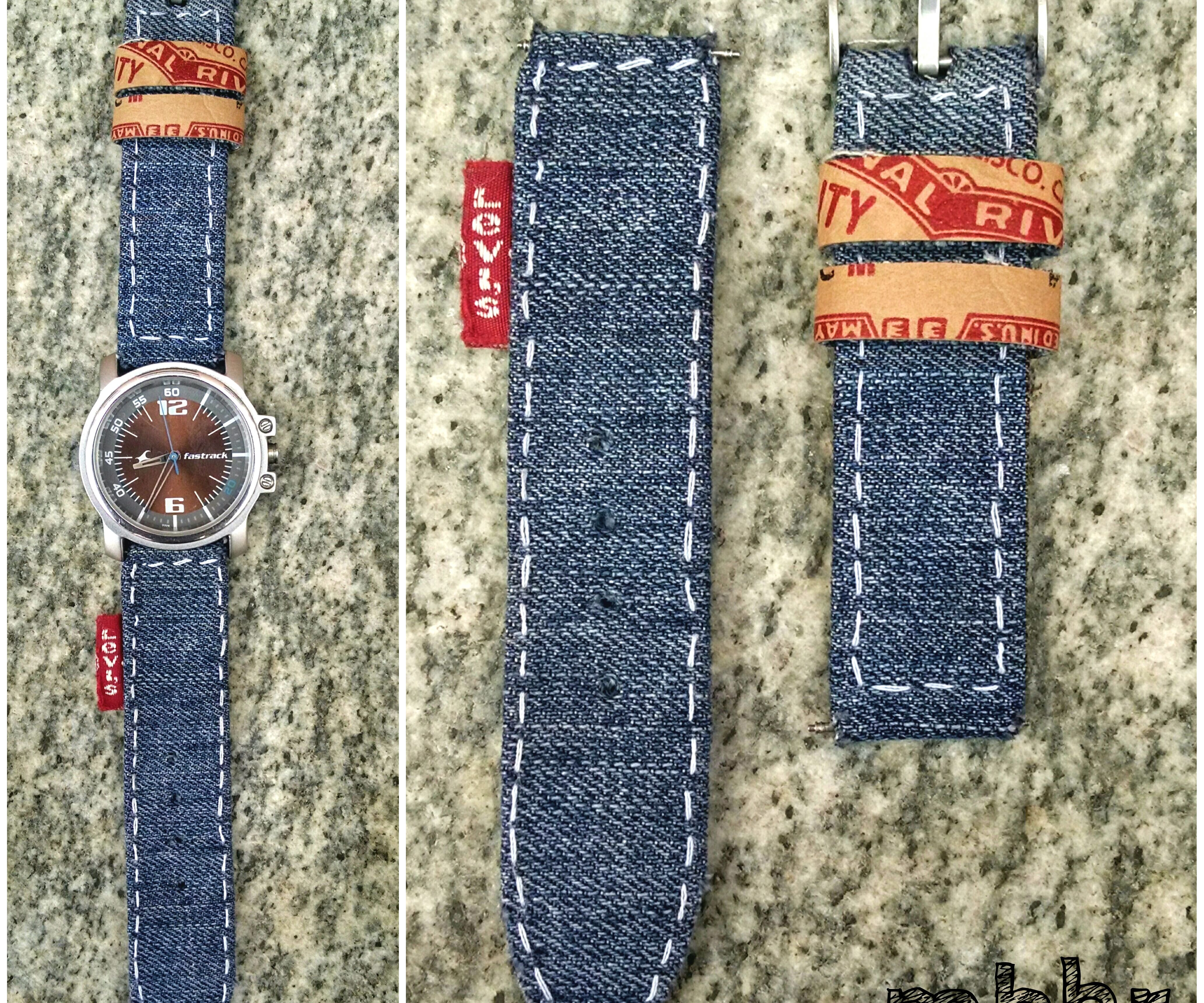 DIY Denim Watch Strap