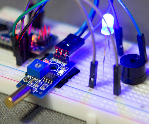 How to Use TILT Sensor With LED, BUZZER and ARDUINO