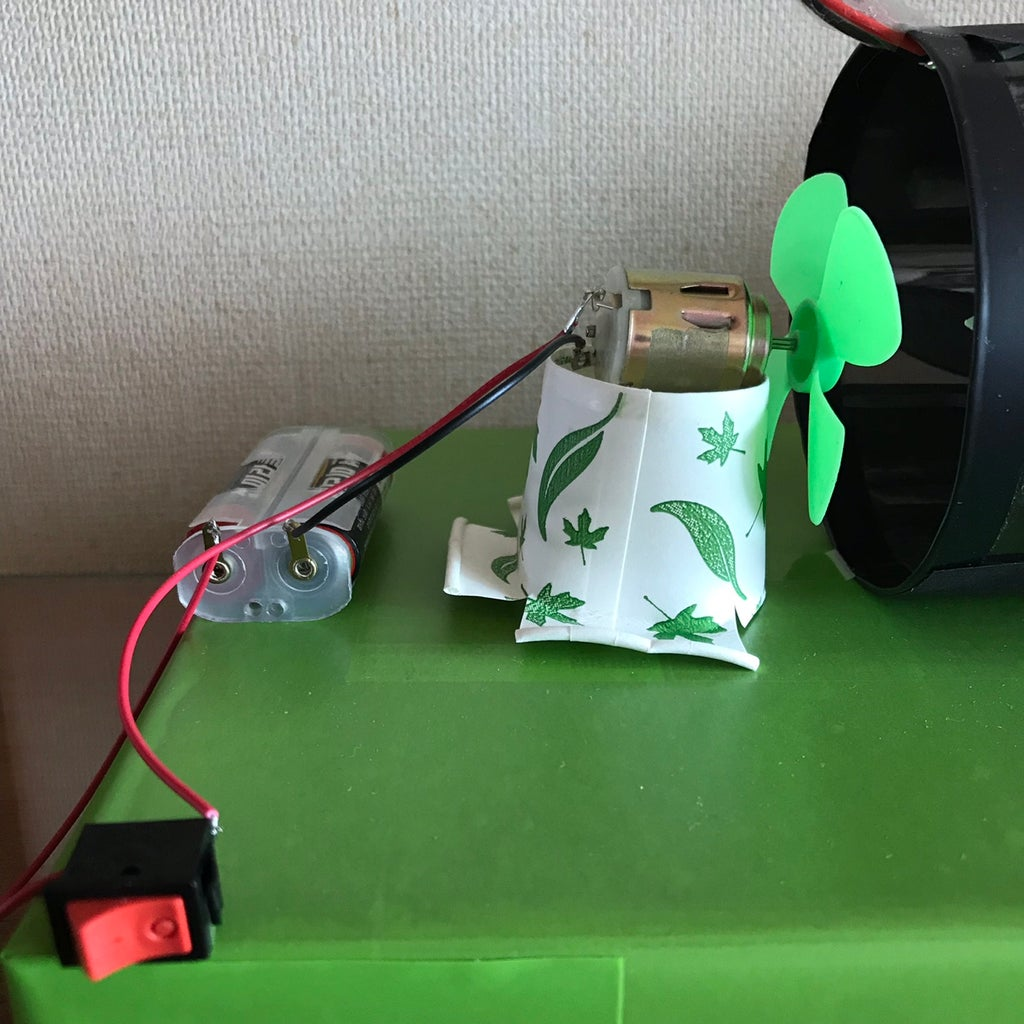 Make Fan With D.C. Moter