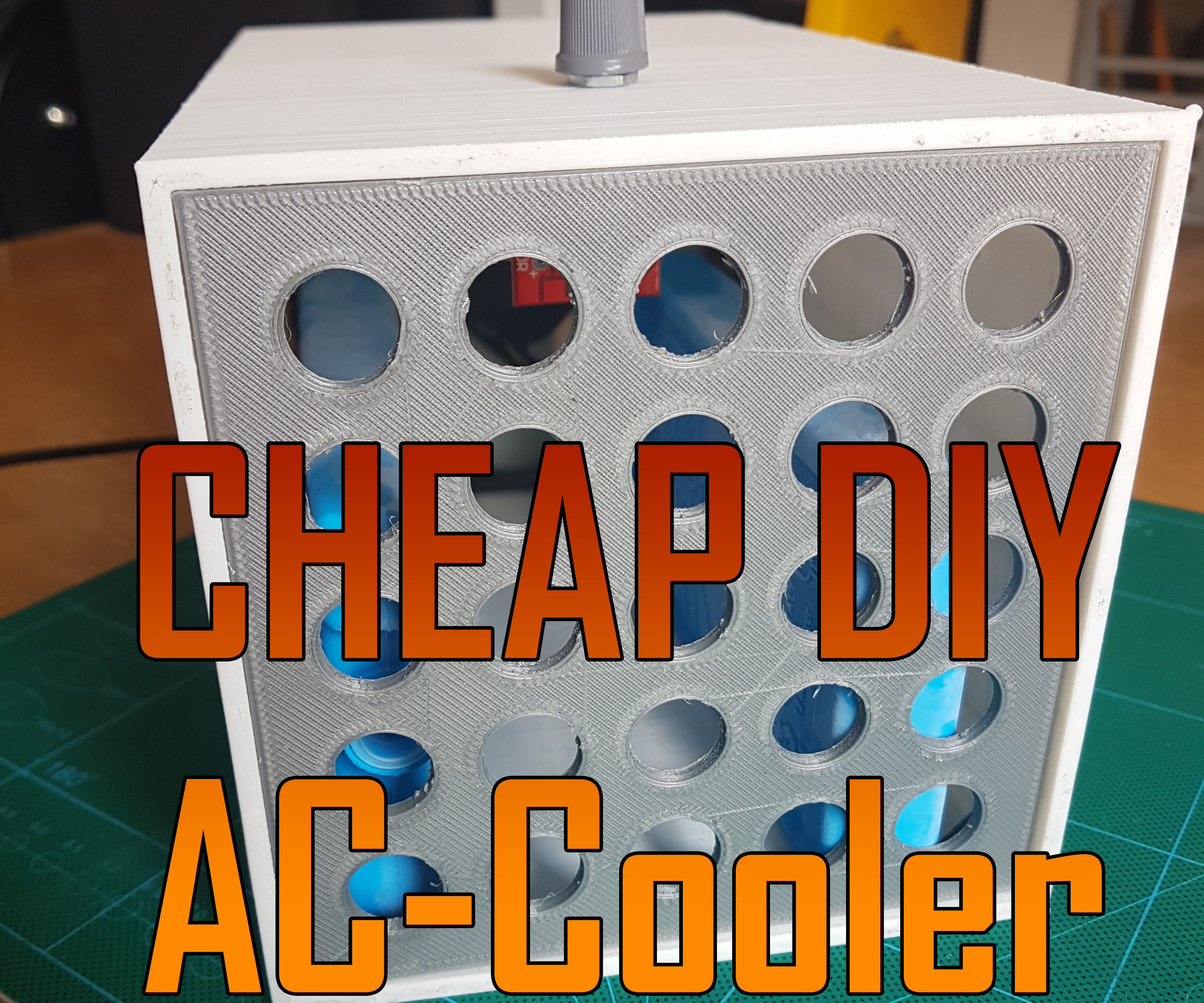 Cheap AC-cooler 3D-printed