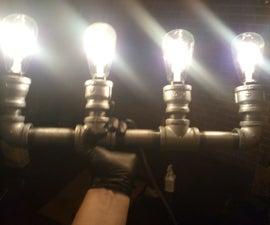 Steampunk Industrial Light Fixture LED