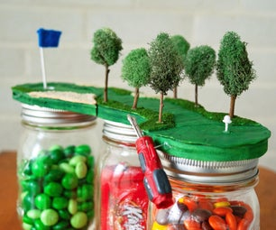 Mini Mason Jar Golf Course