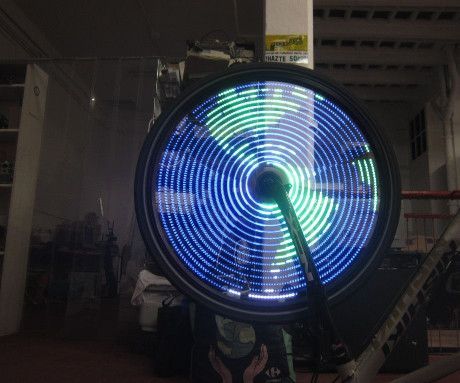 Bike wheel WS2811 LED effects with Arduino