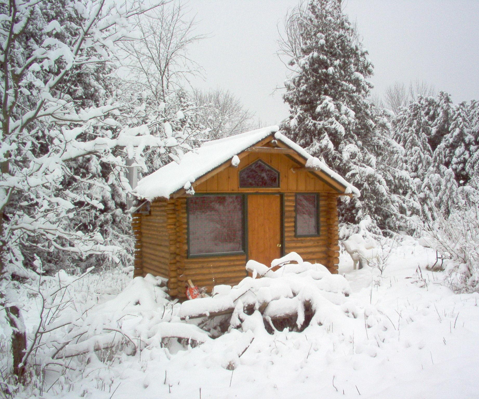 How to make a log cabin retreat