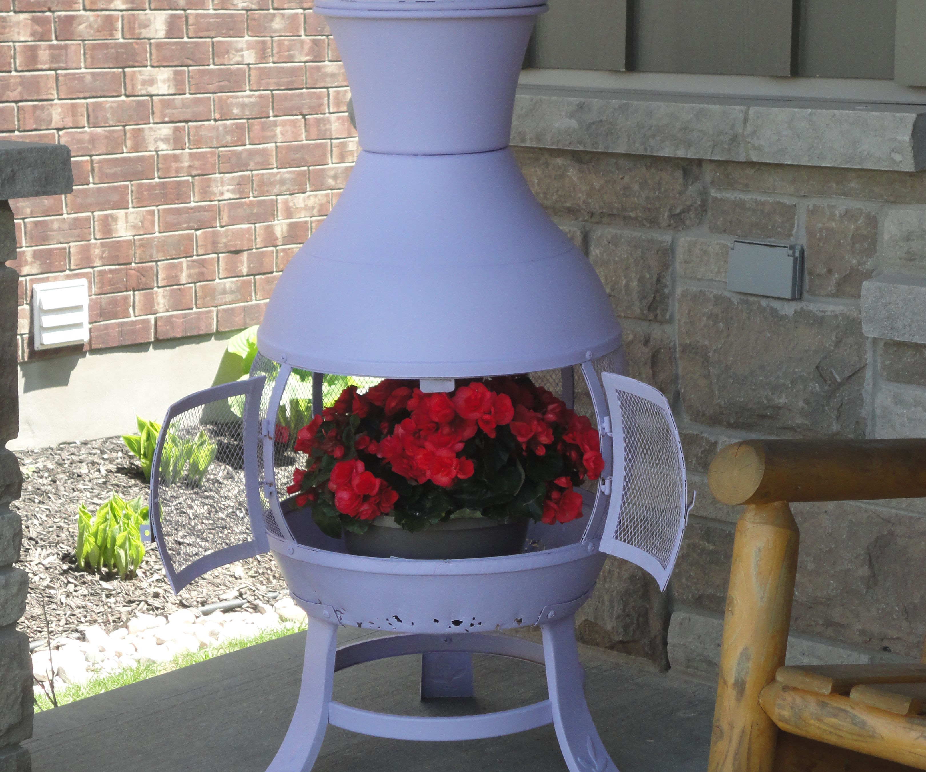 Repurpose old chiminea.