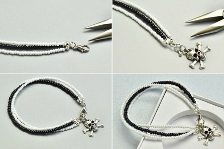 How to Make the Pearl Beads Bracelet With Three Strings: