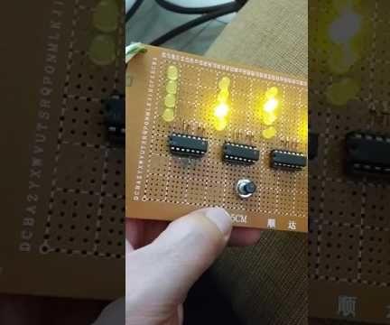 4-Digit Yellow Binary Counter