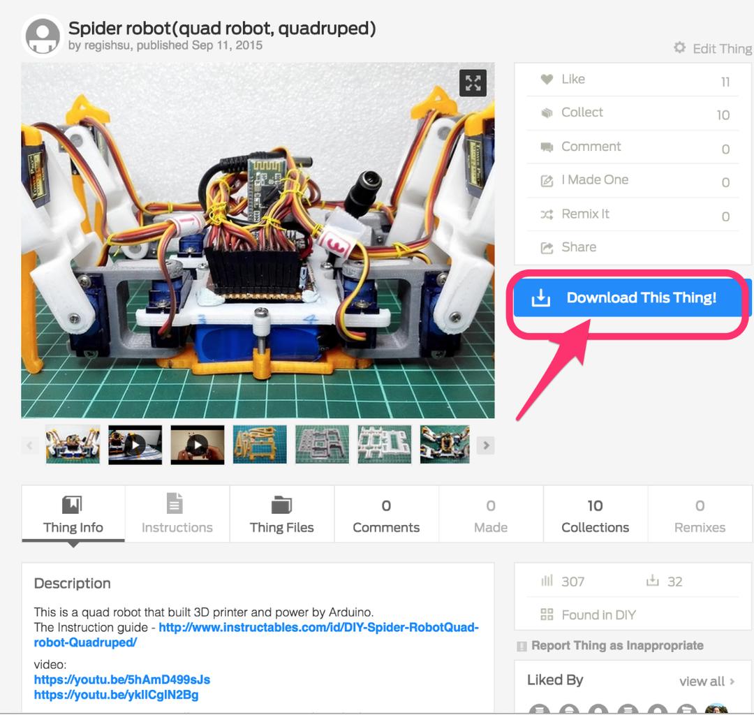 Building the Mechanical Parts - Download 3D STL Files