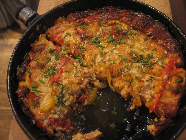 Bell Pepper and Chorizo Omelette
