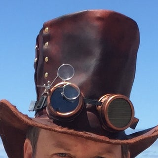Leather Steampunk Top Hat