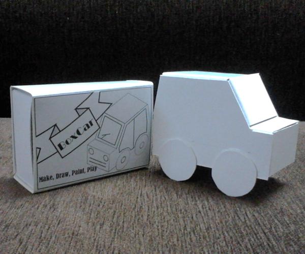 DIY Paper Craft Toy Car Kit