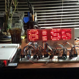48 X 8 Scrolling LED Matrix Display Using Arduino and Shift Registers.