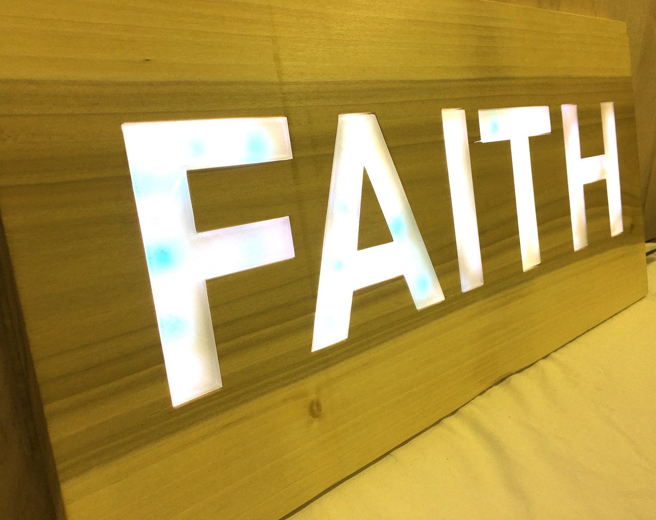 Backlit Signs With LED Light Strips