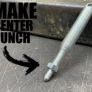 How to Make a homemade Automatic Center Punch
