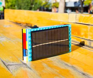 乐高太阳能USB到智能手机充电器