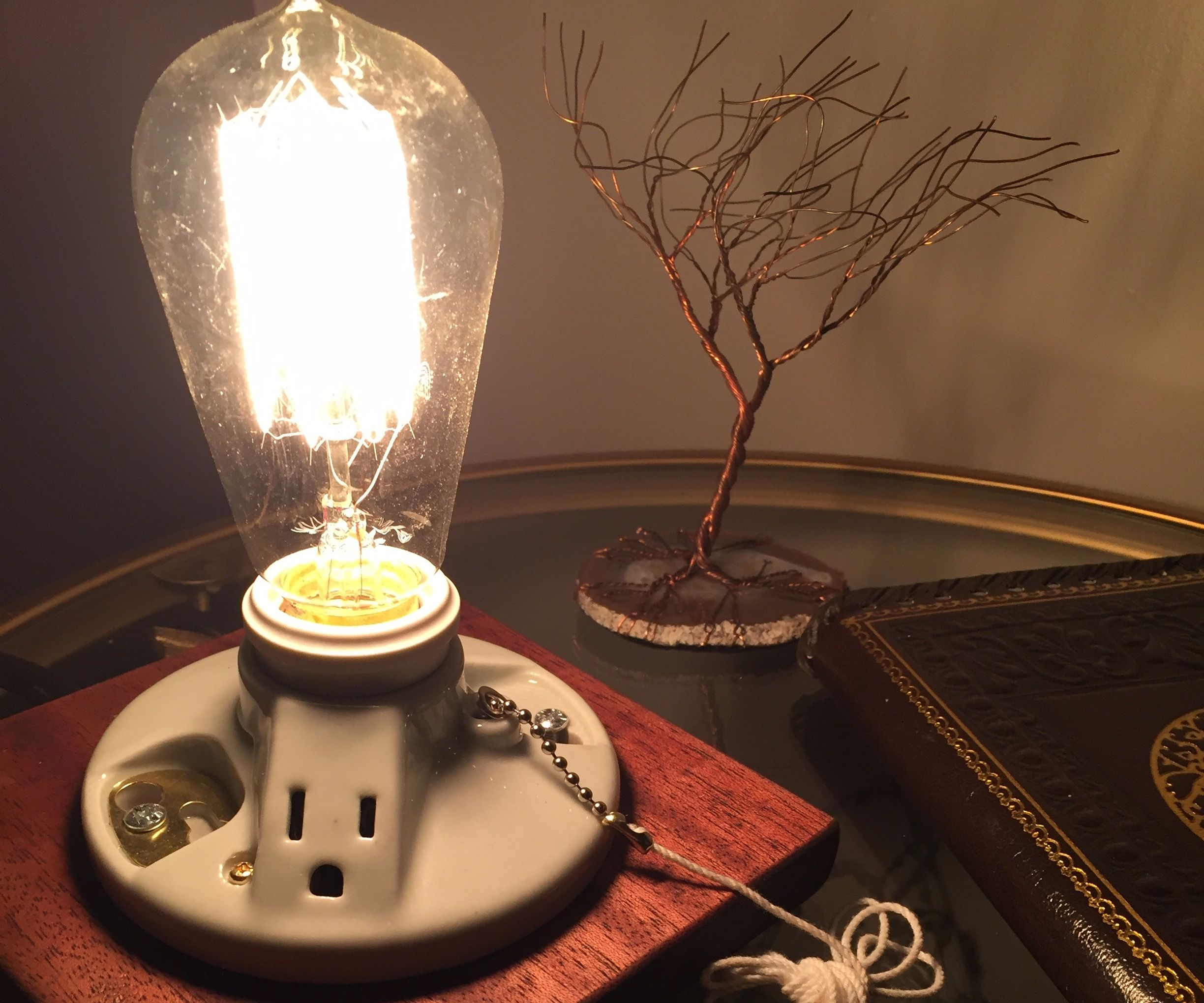 Lamp With Phone Charging Outlet