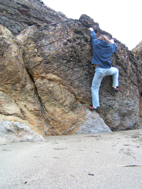 Finding a local bouldering spot.