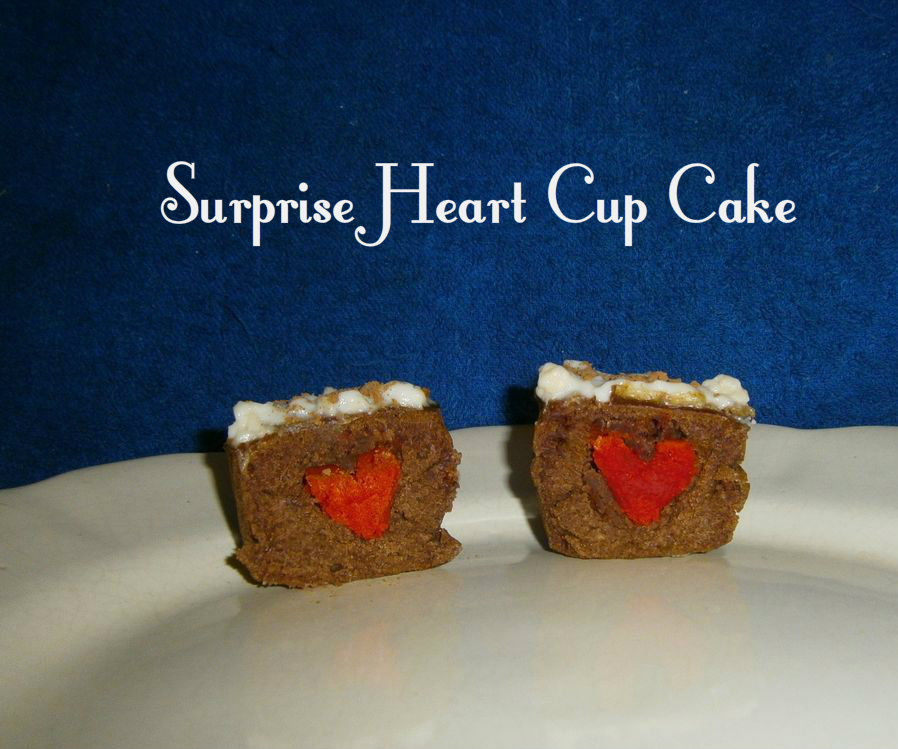 Surprise Heart Chocolate Cup Cake