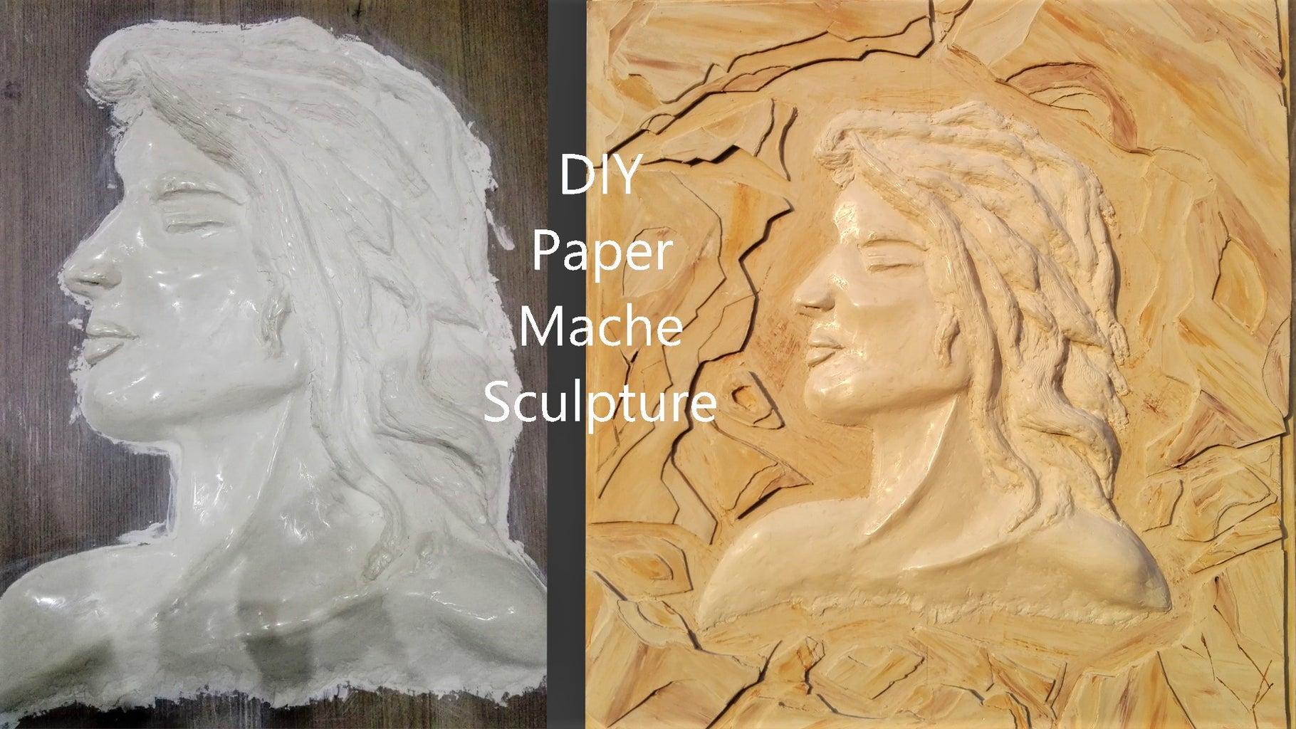 DIY Paper Mache Sculpture Like Stone Carving
