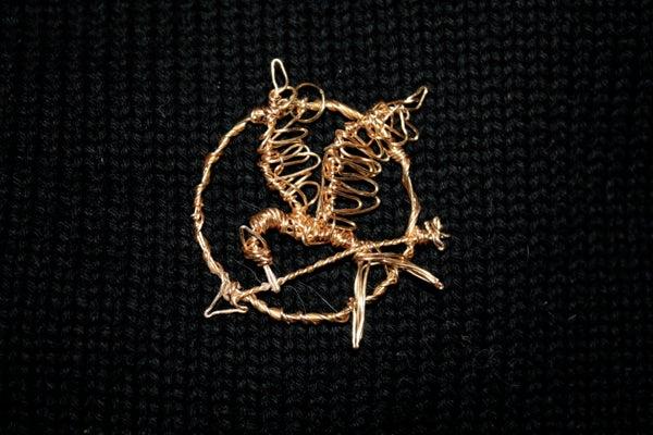 Wire-Wrapped Mockingjay Pendant