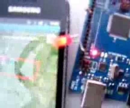 android and arduino: location object in area