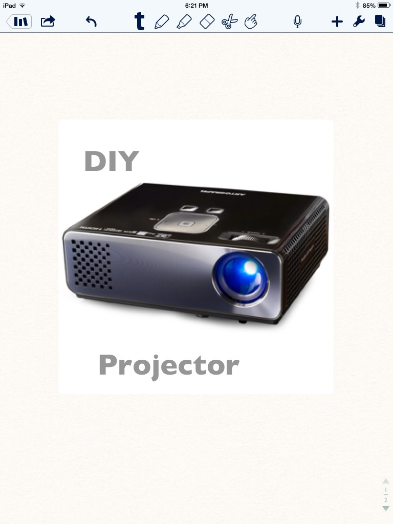 DIY iPad mini/ Smartphone Projector
