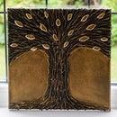 DIY Hot Glue Tree Art | Paint Your Own Metal-Effect Textured Wall Art