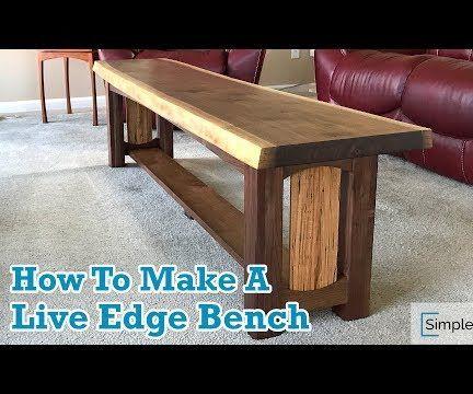 Walnut Live Edge Bench