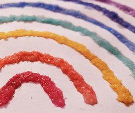 Rainbow: Salt Crystal Painting