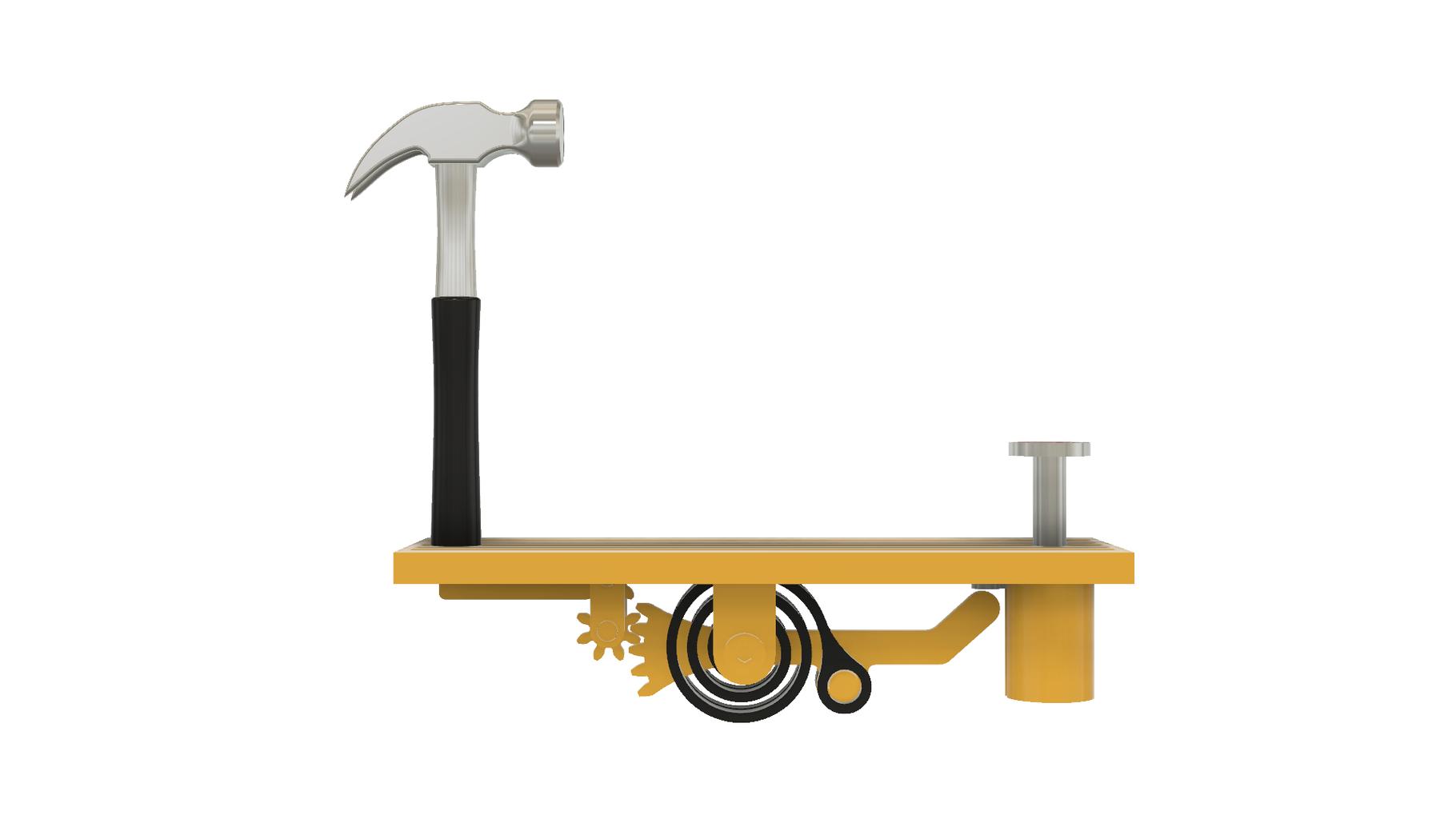 Add Gear Idler, Gear Hammer, Hammer and the Base.