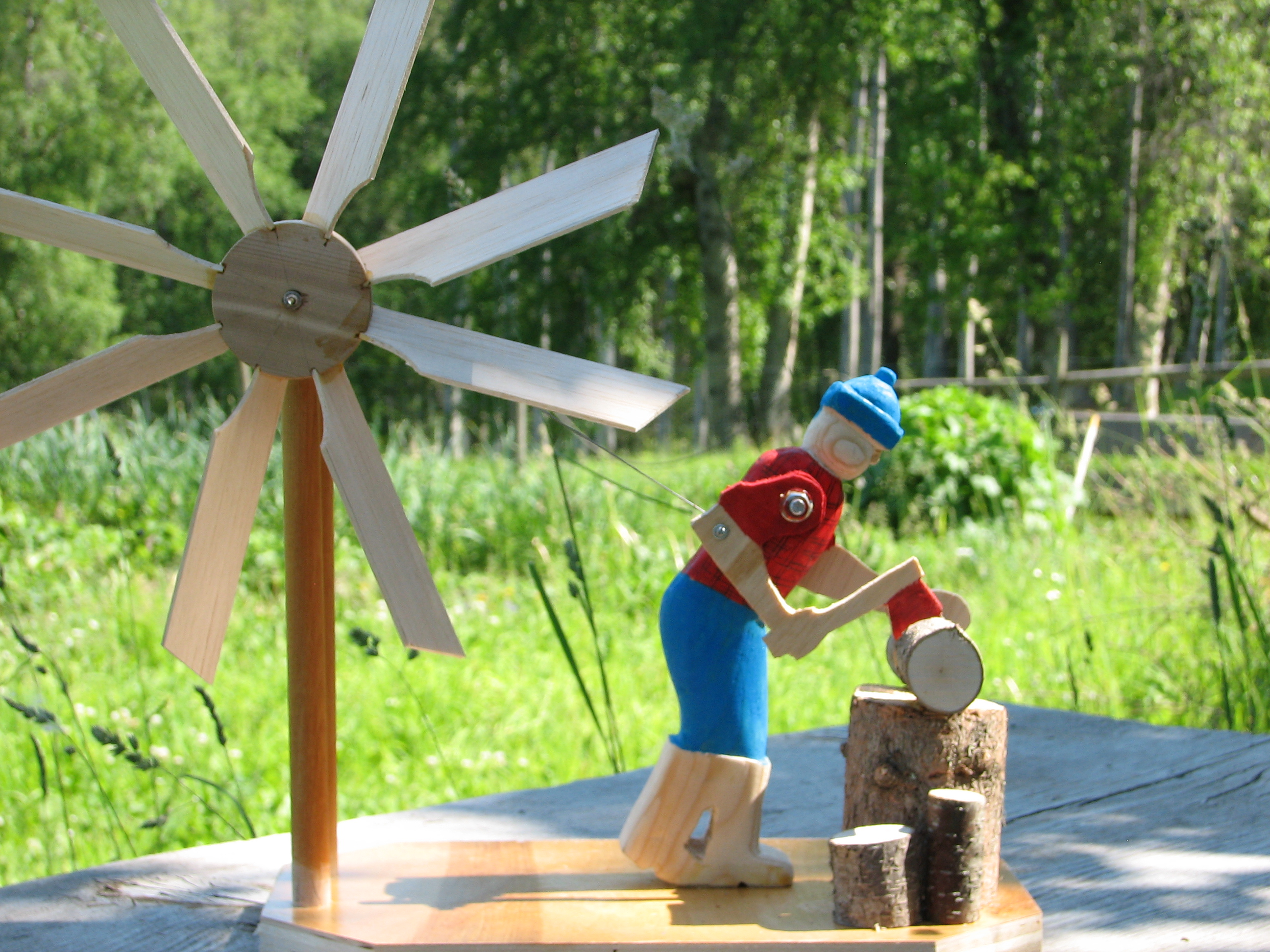 Wood Chopper Windmill