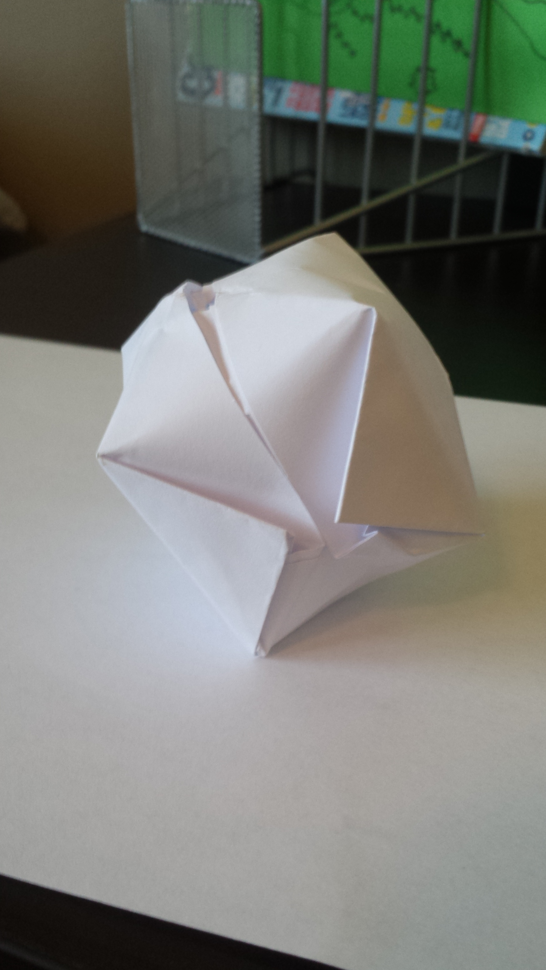 Forming an Origami Balloon
