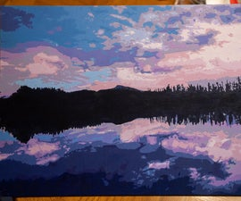 Painting a Reduced-Color Indigo/Violet Landscape