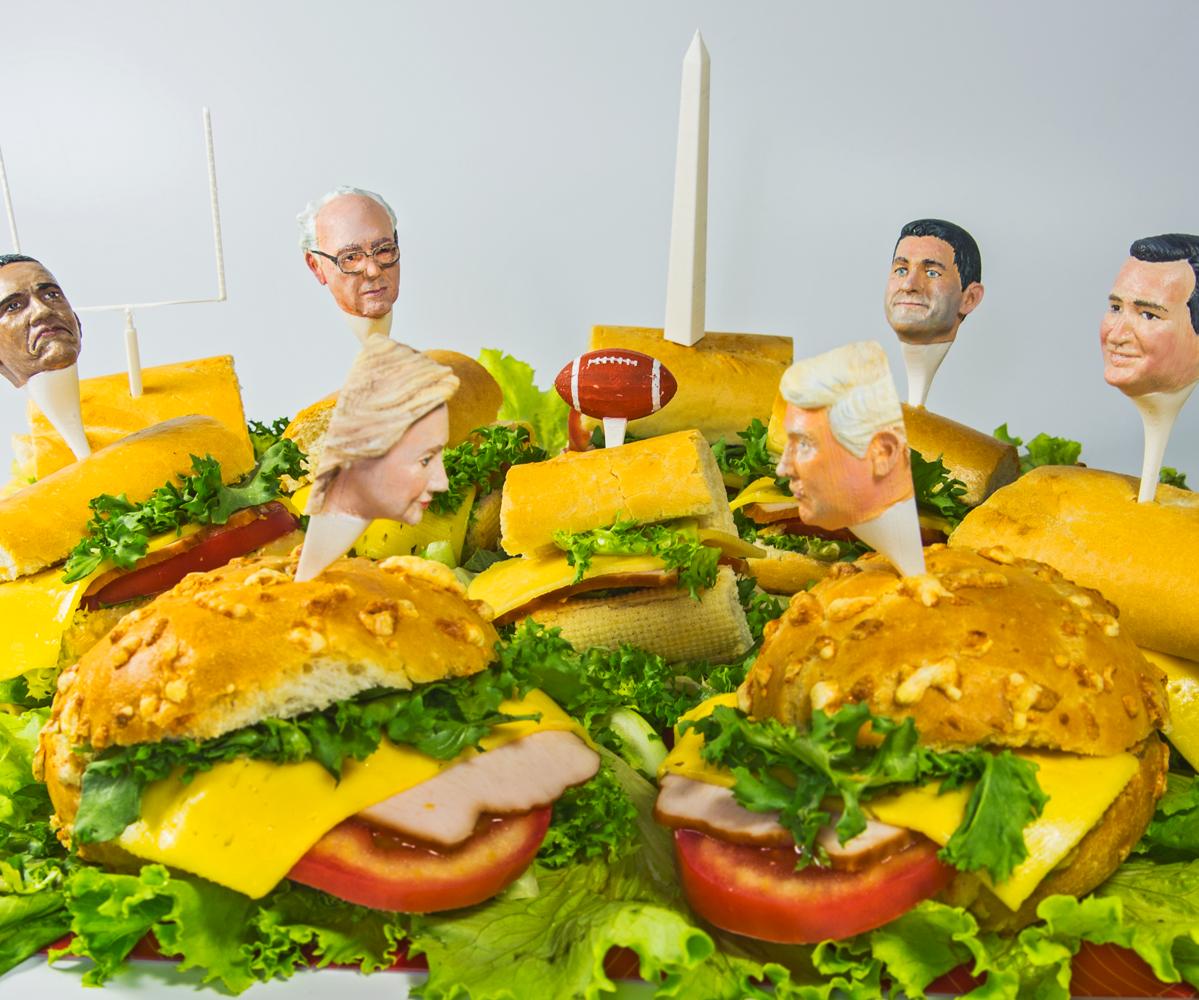 DIY Trump, Hillary and Other Political Sandwich Pricks