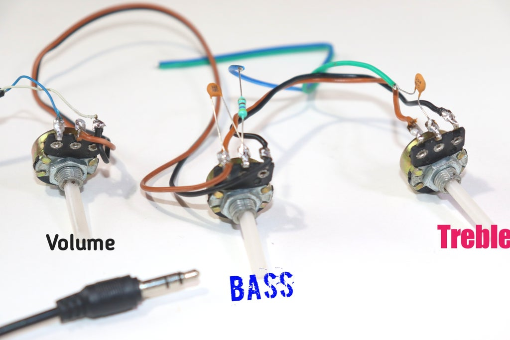 Volume, Bass and Treble Circuit in Audio Amplifier : 11 Steps -  Instructables   Speaker Rheostat Wiring Diagram      Instructables