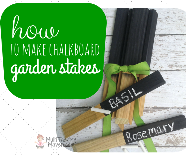 How to Make Chalkboard Garden Stakes