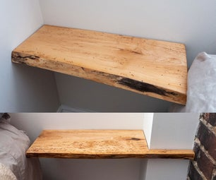 Maple and Epoxy Resin Bedside Shelves
