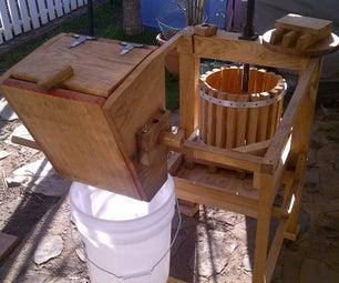 Apple Cider Press With Grinder