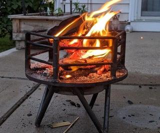 Brake Rotor Fire Pit