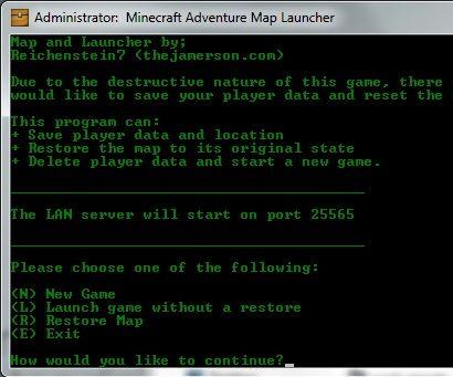 Minecraft Adventure Mode Launcher